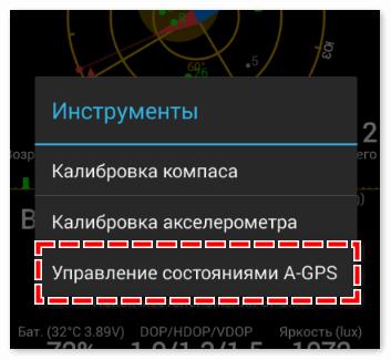 Управление a-gps