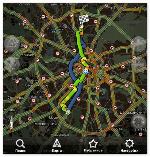 Ночной режим в Яндекс Навигаторе