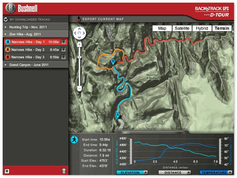 Данные на компьютере с Garmin GPSMAP 64st