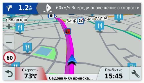 Интерфейс Garmin