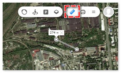 Линейка в Яндекс картах