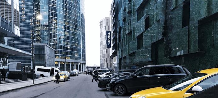 Парковка в Москва Сити