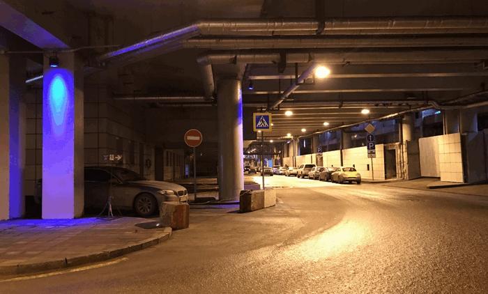 Подземнй паркинг под башнями в Москве